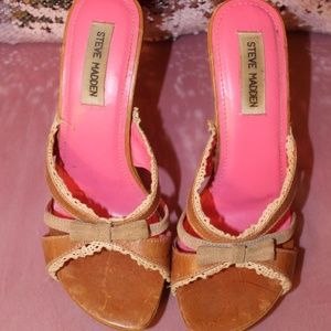 heel sandles by Steve Madden